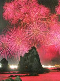 那智勝浦町花火大会の写真