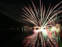 やすぎ月の輪まつり花火大会の写真
