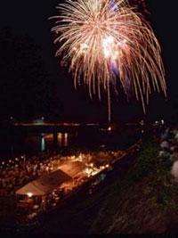 津和野町夏まつり にちはら鮎まつり花火大会の写真