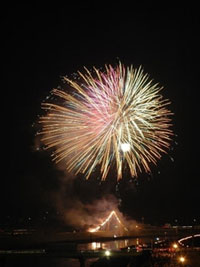 山鹿灯籠まつり納涼花火大会の写真