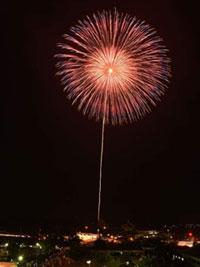 しすい孔子公園夏まつり花火大会の写真
