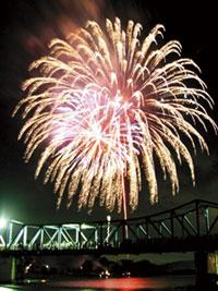 第73回南丹市花火大会の写真