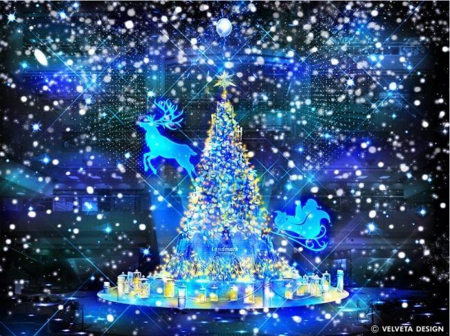 横浜ランドマークタワークリスマスツリー 2019年のテーマは「White ...