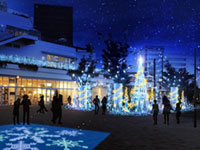 Terrace Mall 湘南 Xmas Illumination -Fantasia in the sky-の写真