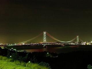 明石海峡大橋ライトアップの写真1