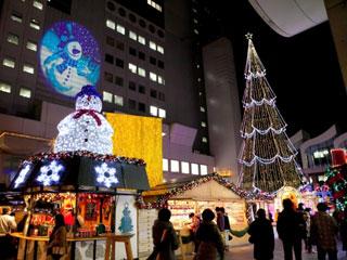ドイツ・クリスマスマーケット大阪&空中庭園Xmas写真1