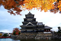 The Autumn Leaves of Matsumoto Castle