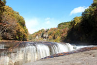 The Autumn Leaves of Fukiwari Falls