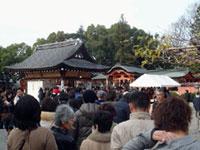 西院春日神社の初詣