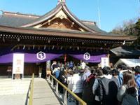 砥鹿神社の初詣