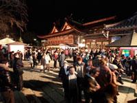 吉備津神社の初詣