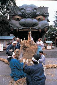 難波八阪神社の初詣